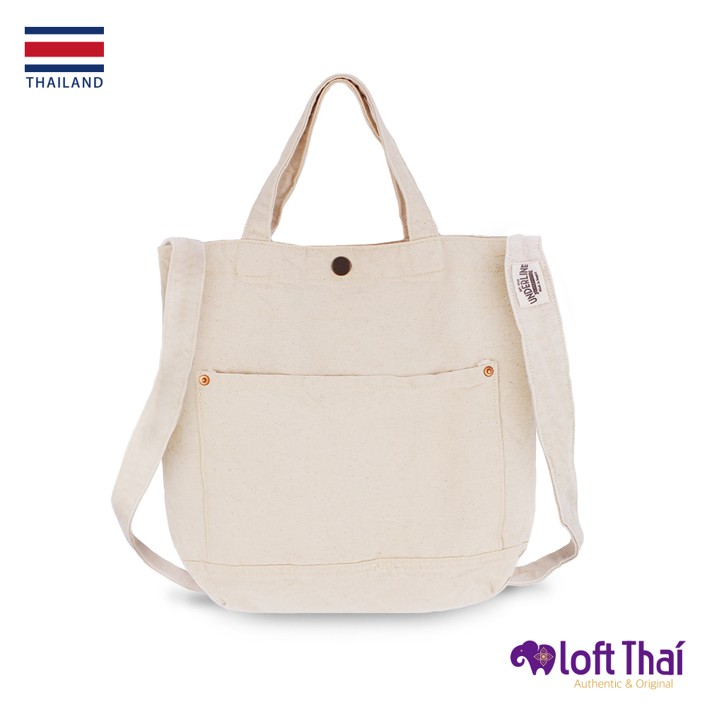 Loft THAI | 泰.兩用水洗帆布單肩包 | White