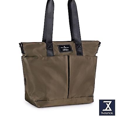 74盎司 Simple 多夾層設計手提肩背包[LG-797]咖啡