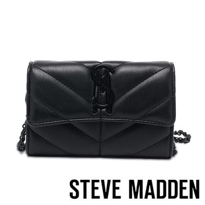 STEVE MADDEN-BVICK 斜壓紋側背信封包-黑色