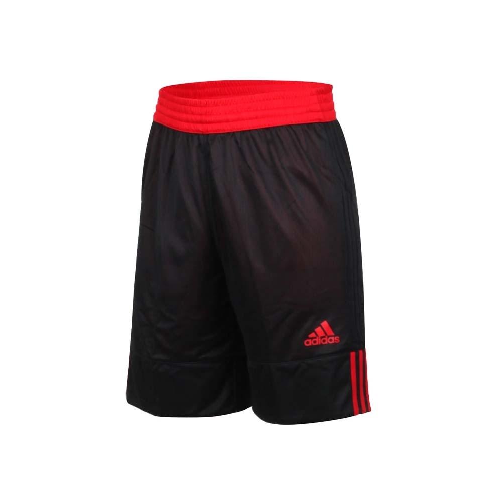 ADIDAS 男雙面籃球短褲-訓練 愛迪達 雙面球褲 運動短褲 五分褲 DY6596 黑紅