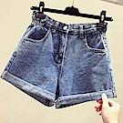 初色  休閒高腰牛仔褲-共2色-(M-XL可選)