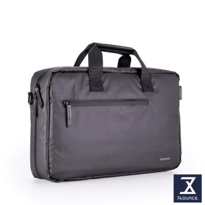 74盎司 Witty 休閒商務電腦側背包(15吋)[G-1057-WI-M]黑