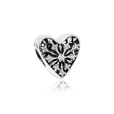 Pandora 潘朵拉 冬季之心鑲鋯 純銀墜飾 串珠