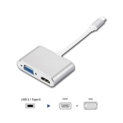 Awesome USB Type-C 轉 HDMI/VGA 轉換器 - AWD-CB-UHV302