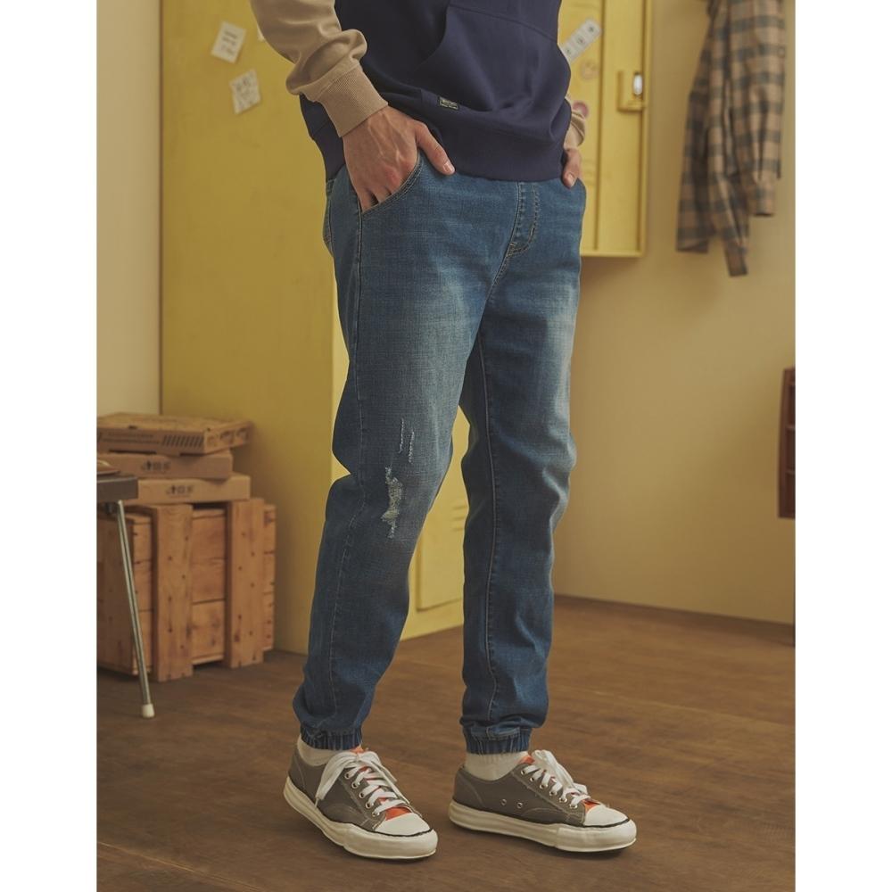 CACO-針織牛仔束腳褲(二色)-情侶款-男【A1AR018】