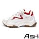 ASH-ADDICT系列時尚潮流休閒拼色刷舊增高老爹鞋-貝殼紅 product thumbnail 1