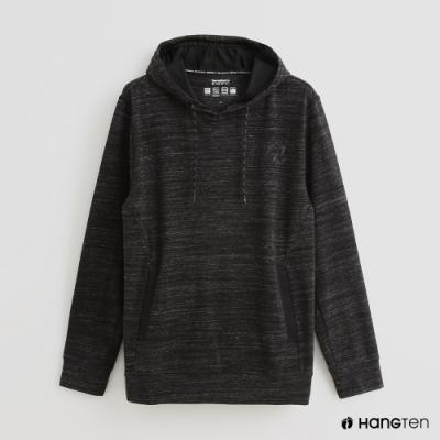 Hang Ten - 男裝 -ThermoContro-簡約抽繩連帽機能帽T-灰