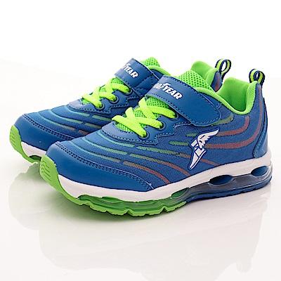 GOODYEAR戶外童鞋 緩震氣墊運動款 SE8236藍(中大童)C