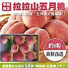【天天果園】拉拉山五月水蜜桃(媽媽桃)8粒4盒(每盒約2.5斤)