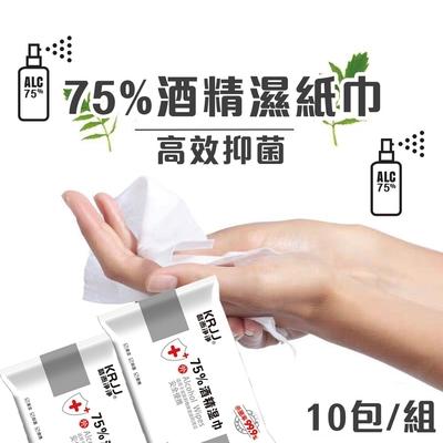 75%濕紙巾 10抽 十入組