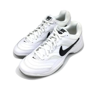 NIKE  COURT LITE 男 網球鞋 白黑勾