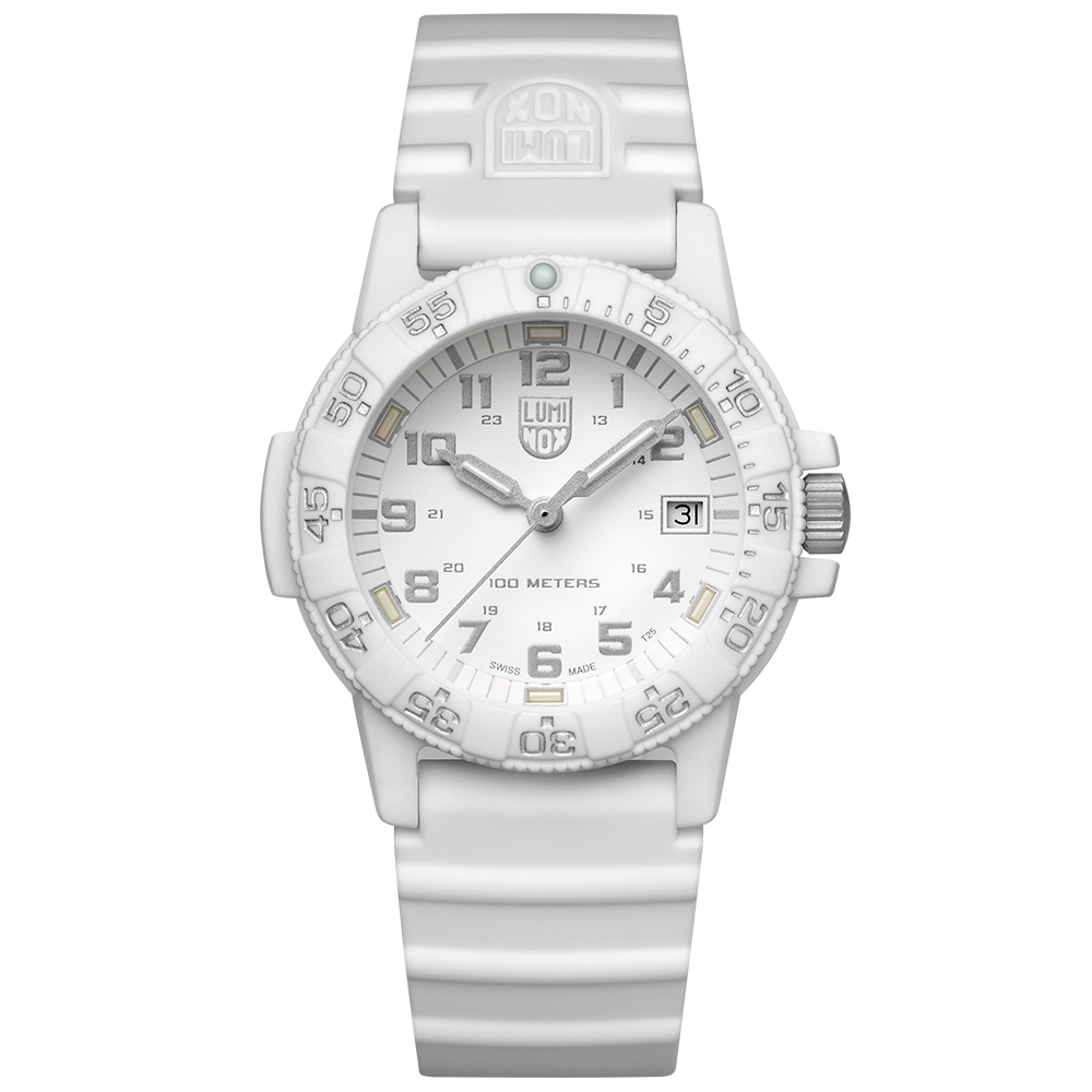 LUMINOX 雷明時SEA TURTLE 0300海龜系列腕錶-白x灰時標/39mm