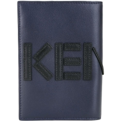 KENZO 撞色LOGO設計護照夾(深藍/黑)