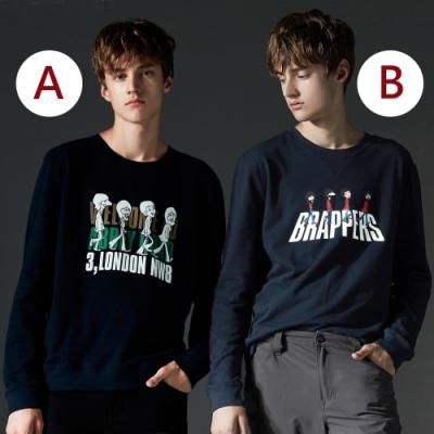 [時時樂限定]BRAPPERS 男/女款 披頭印花長袖T(多色選)