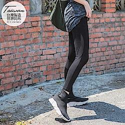 台灣製造~20%超彈力纖維透膚拼接運動褲/瑜伽褲-OB嚴選