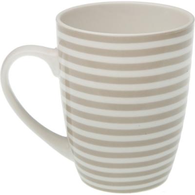 《VERSA》新骨瓷馬克杯(棕橫紋325ml)