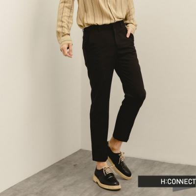 H:CONNECT 韓國品牌 男裝-經典百搭修身西裝褲-黑色