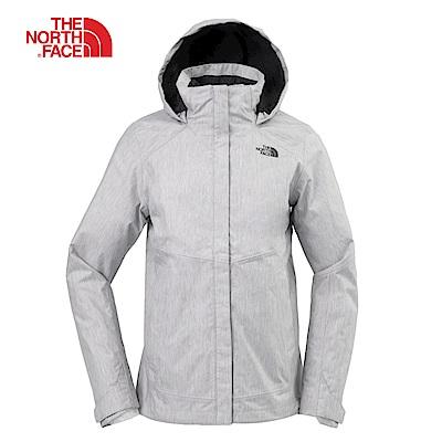 The North Face北面女款灰色防水透氣連帽外套|3L9CHKQ
