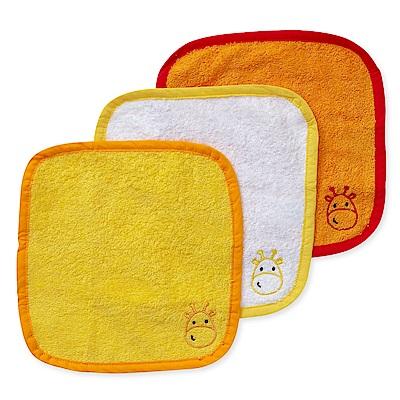 mothercare 長頸鹿純棉小方巾3入 (25x25cm)