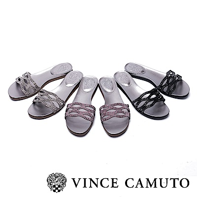 VINCE CAMUTO 簍空水鑽平底涼鞋-絨紫