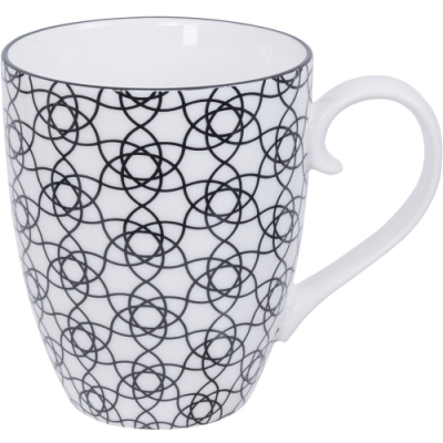 《Tokyo Design》瓷製馬克杯(花繩黑325ml)