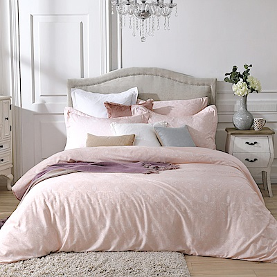 BBL Premium 古典戀情-粉100%萊賽爾纖維天絲印花兩用被床包組(雙人)