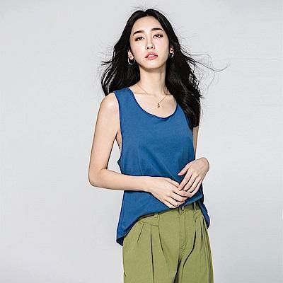 SUITANGTANG 造型U領無袖上衣-藍