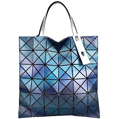 ISSEY MIYAKE 三宅一生BAOBAO 波紋方格6x6手提包(藍)