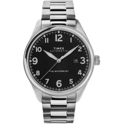 TIMEX 天美時 Waterbury Chrono系列 經典紳士機械錶-黑x銀/42mm