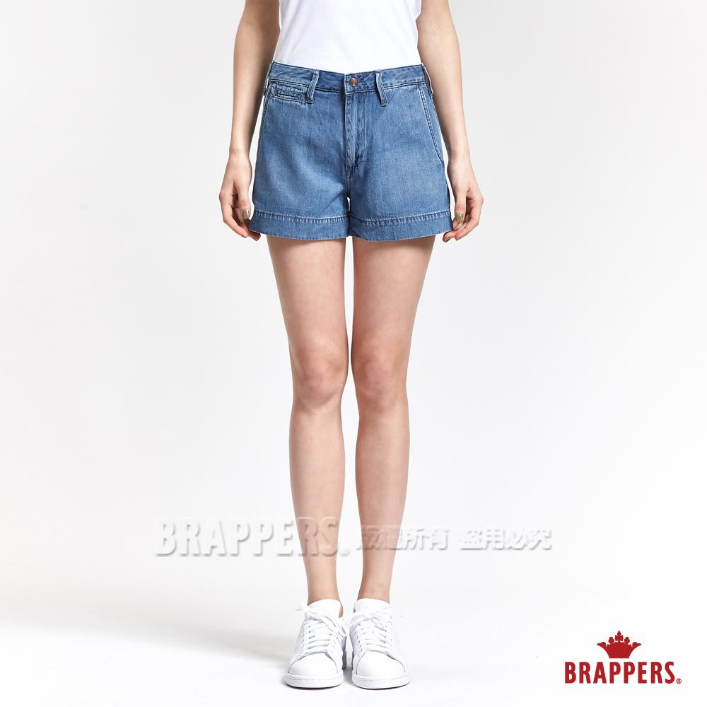 BRAPPERS 女款 Boy Friend 系列-女用休閒天絲棉短褲-淺藍
