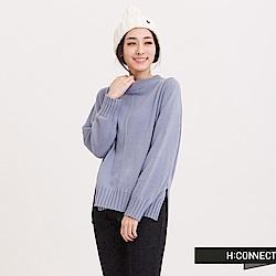 H:CONNECT 韓國品牌 女裝 - 袖縮口針織毛衣-藍(快)