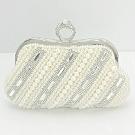 米蘭精品 珍珠晚宴包鏈條包-名媛風歐美時尚鑲鑽女包情人節生日禮物71as50