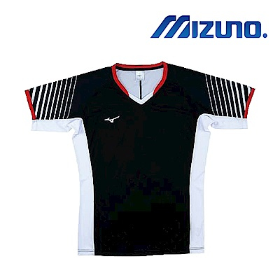 MIZUNO 美津濃 男女短袖排球T恤 黑白紅 V2TA8G1809
