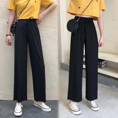 【韓國K.W.】(預購)獨家款百搭素色寬褲-2色