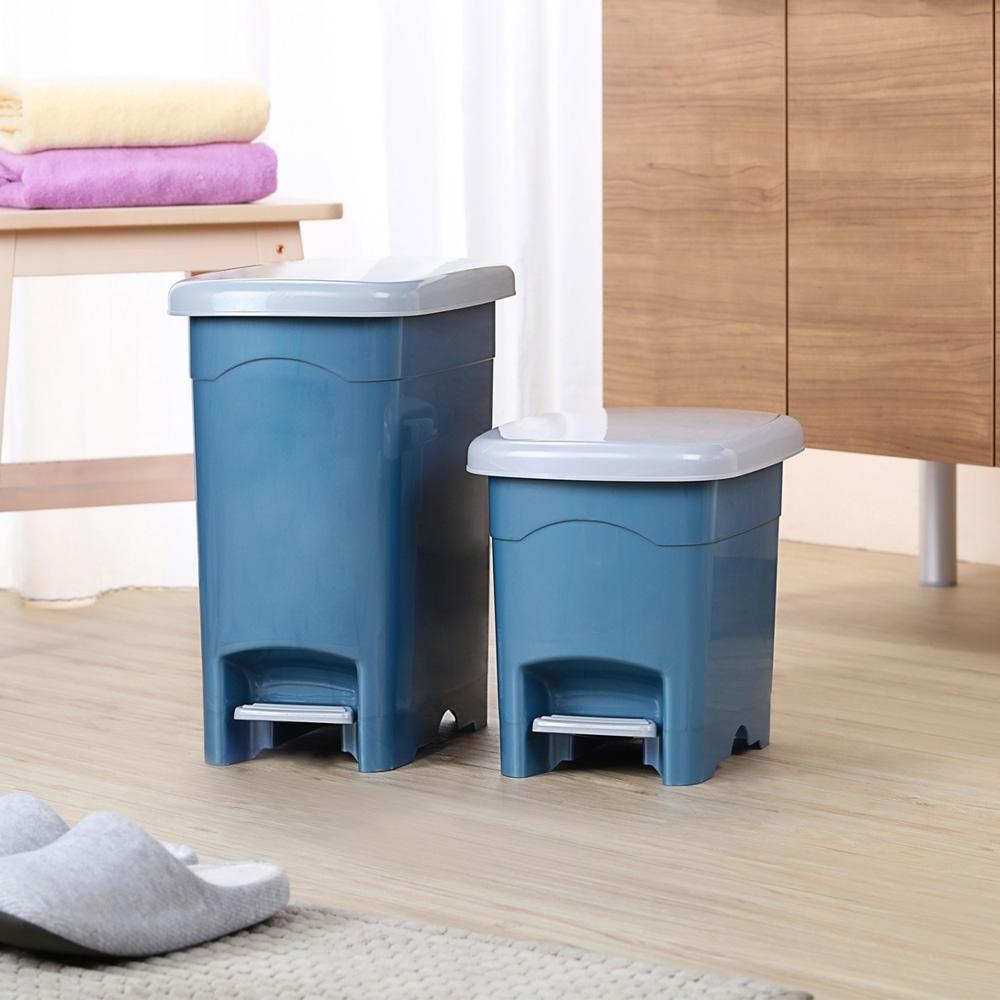 創意達人宇佐腳踏式垃圾桶(10L+20L)2入組
