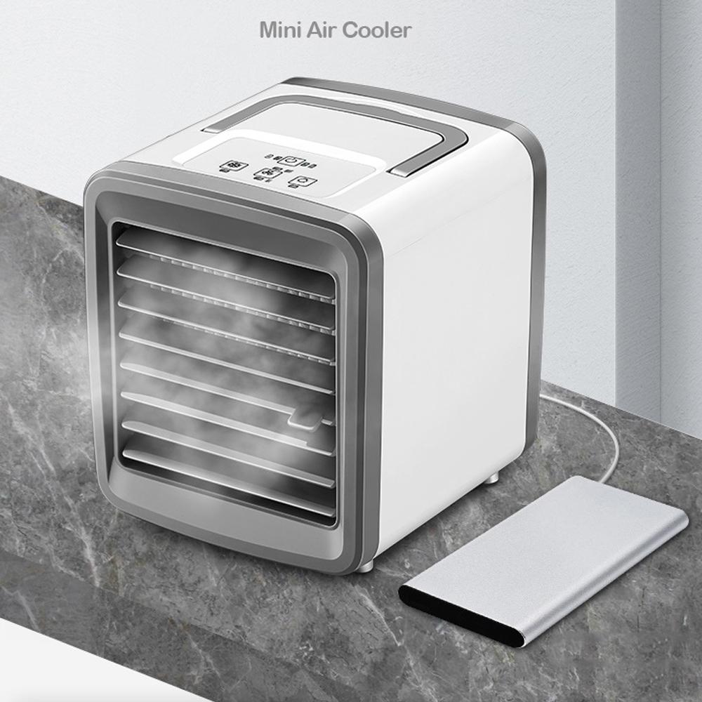 泰GER生活選物 USB加濕噴霧水冷扇 風速可調/七色夜燈