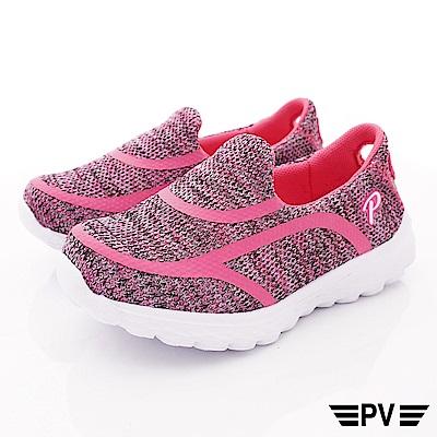 PV日系私藏 針織輕量休閒鞋款 8907桃紅(中大童段)