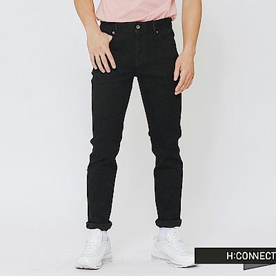 H:CONNECT 韓國品牌 男裝-原色修身牛仔褲-黑