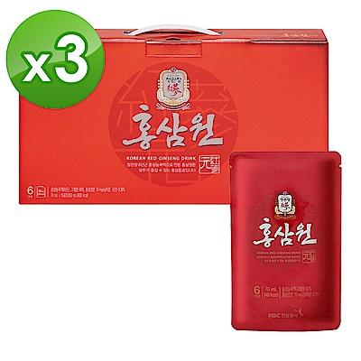 【正官庄】高麗蔘元 PLUS 隨身包(70mlX15入/盒)x3