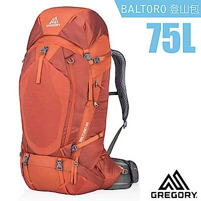 美國 GREGORY 新款 Baltoro 75 專業健行登山背包M_亞鐵橘