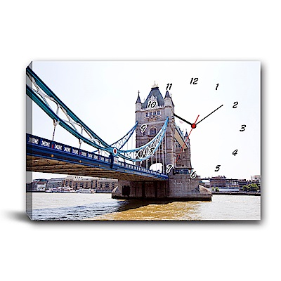 美學365-單聯式橫幅 掛鐘無框畫-陸橋-60x40cm