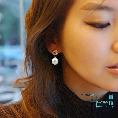 【Hera 赫拉】經典玫瑰珍珠耳針