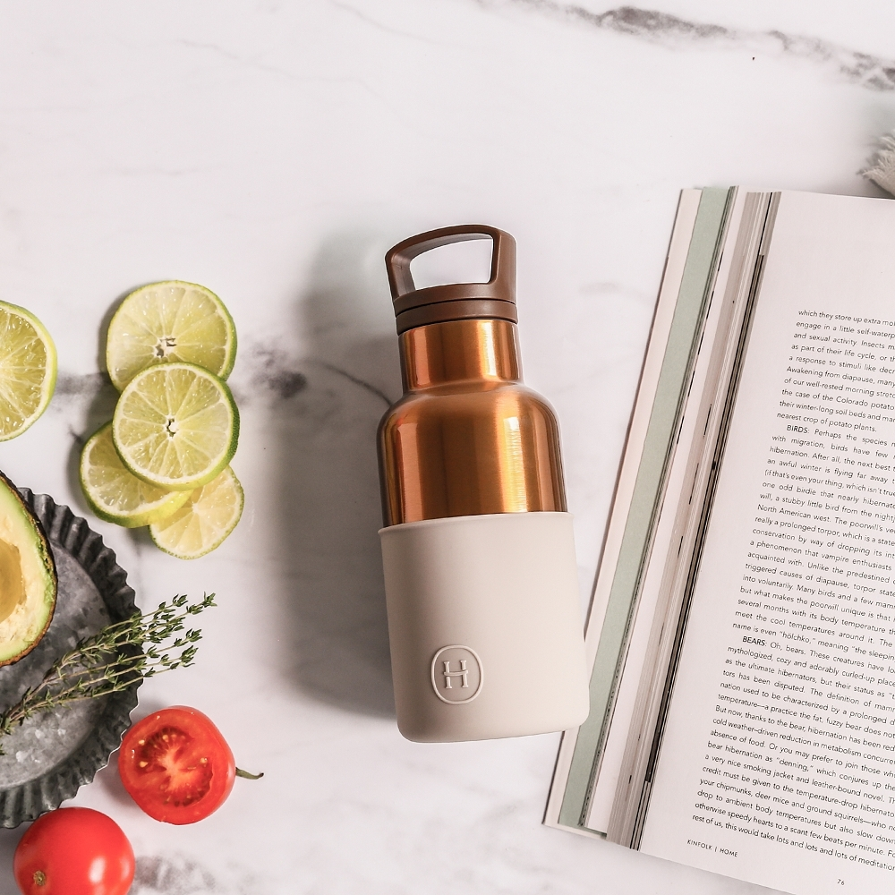 HYDY時尚水瓶CinCin Deco系列 尤加利-古銅金 不鏽鋼保溫瓶360ml