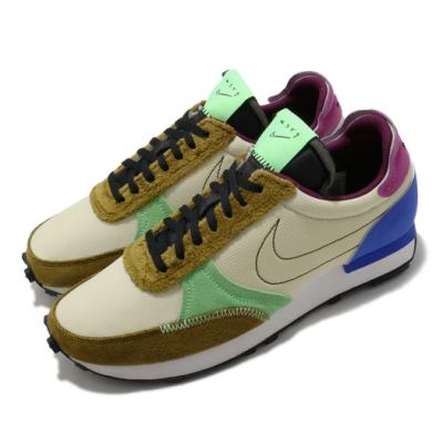 Nike 休閒鞋 DBreak Type 運動 男女鞋 基本款 舒適 情侶穿搭 麂皮 拼接 卡其 綠 DC3274203