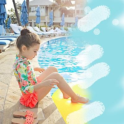 Biki比基尼妮泳衣   花花長袖兒童泳衣小朋友游泳衣兒童泳裝(粉色)