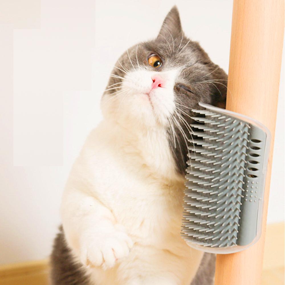 dyy》貓牆角蹭毛器貓咪撓痒癢玩具轉角按摩梳(顏色隨機出貨)