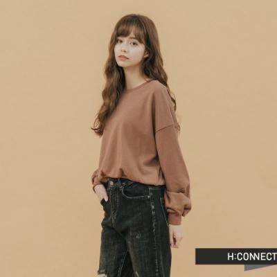 H:CONNECT 韓國品牌 女裝-質感素面大學T(快)