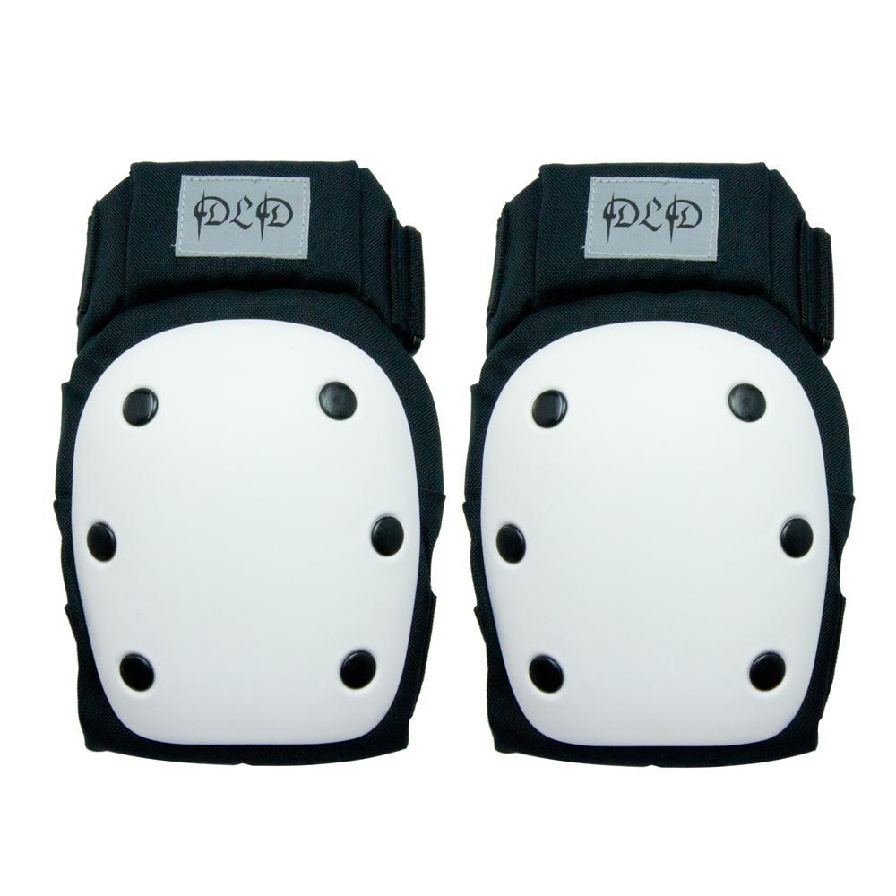 DLD多輪多 專業特技直排輪護具 溜冰鞋 蛇板 滑板護具 極限運動強化護肘護膝 黑白 M