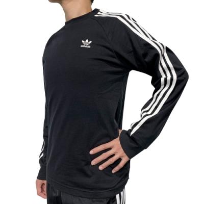 ADIDAS 3-STRIPES LS T 男 長袖上衣 黑