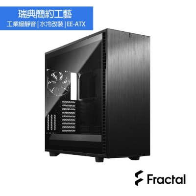 【Fractal Design】Define 7 XL TG 全黑化 鋼化玻璃透側電腦機殼